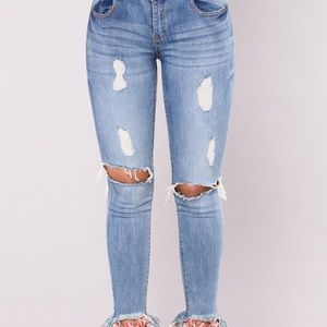 fashion nova distressed jeans. new.
